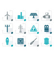 stylized electricity and power icons vector image vector image