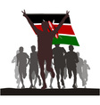 Winner with the Kenya flag vector image