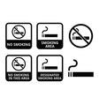No smoking smoking area icons set vector image vector image