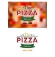Retro pizza label or banner vector image