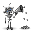 Robot with Speaker vector image vector image