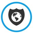 Earth Shield Icon vector image