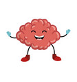 brain kawaii character icon vector image
