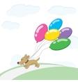 Dog and balloons vector image