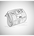 Doodle style newspaper in format vector image
