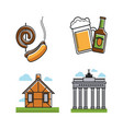 german attributes set with building types vector image