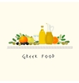 Greek Diet image vector image