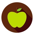 Green Apple Circle Icon vector image