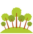 natural trees forest garden park landscape ecology vector image