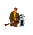 Hunting Hunter with dog Cartoon vector image