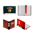 Books icons set knowledge concept vector image