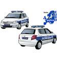 serbia police car vector image vector image