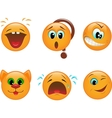 Set of smileys vector image vector image
