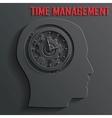clock mechanism in head vector image