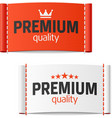 Premium quality clothing label vector image