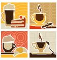 coffee and sweet vector image vector image