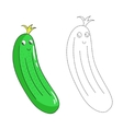 Educational game connect dots draw cucumber vector image