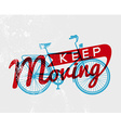 Bike concept typography poster retro bicycle vector image