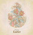 Easter vintage color background with egg vector image