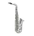 photorealistic saxophone isolated on a white vector image