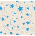 Stars and ring seamless pattern vector image