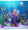 the seabed with rocks algae vector image
