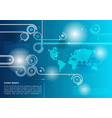 Abstract background technology blue vector image
