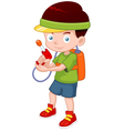 Cartoon boy with toy gun vector image vector image