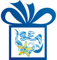 Sea gift vector image vector image