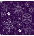 Christmas seamless violet pattern vector image vector image