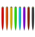 Set of multicolored felt-tip pens vector image