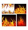 Fire backgrounds set vector