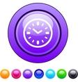 Time circle button vector image