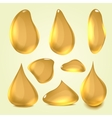 Realistic gold machine oil vector image