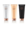 bb cream in different color of realistic tubes vector image
