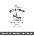 birthday label vector image
