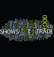 food trade shows text background word cloud vector image