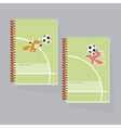 kiddy little fox paling football vector image
