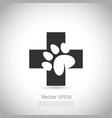 paw print pet health care icon vector image