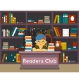 Readers club Education and love of reading vector image