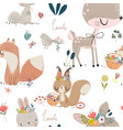 seamles pattern with cute animals vector image