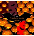 Set of Halloween seamless backgrounds vector image