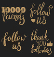 Thank you followers Thank you friends Social vector image