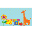 Baby background with toys vector image