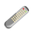 remote control in grey color isolated on white vector image vector image