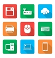 Technology Icons Set with with shadow vector image vector image