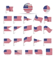 flags of US vector image vector image