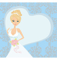 beautiful bride on an abstract background vector image vector image