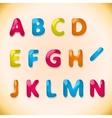 candy alphabet a-n vector image