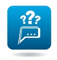 Questions to technical support icon flat style vector image